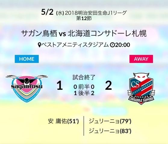 札幌戦結果