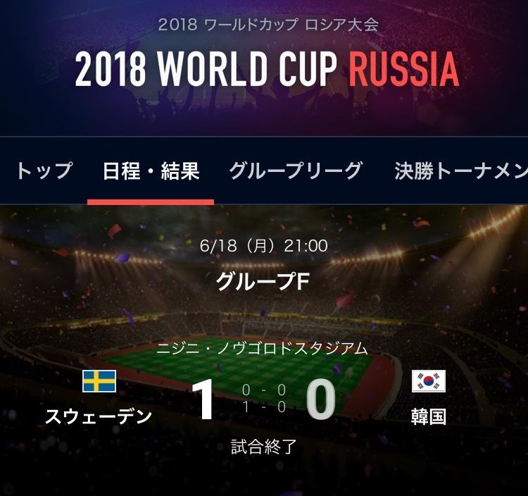 スウェーデン対韓国結果