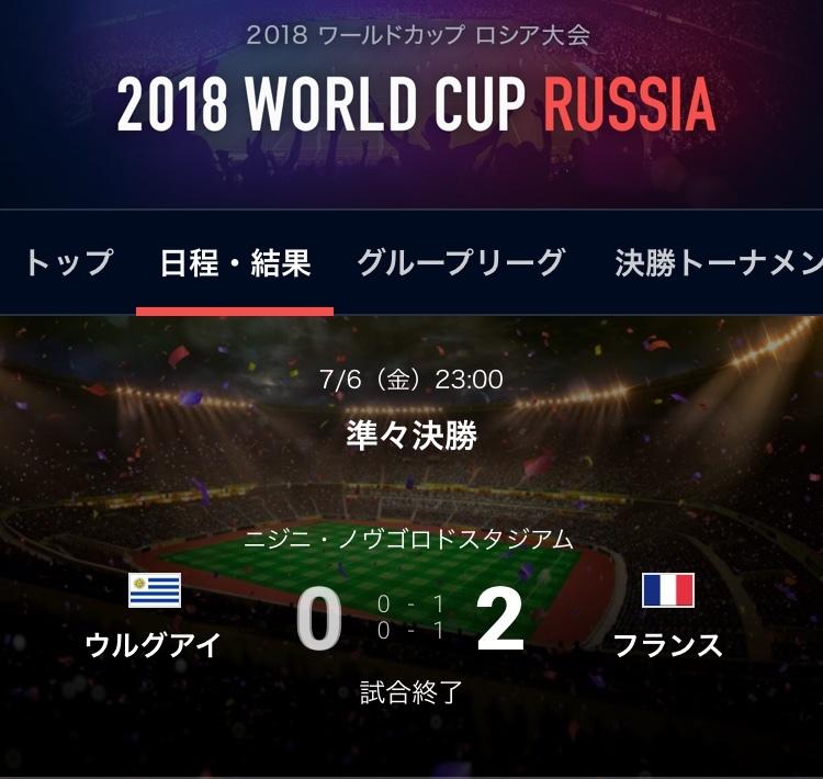 ウルグアイ対フランス結果
