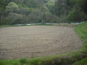 180423下の耕耘した田