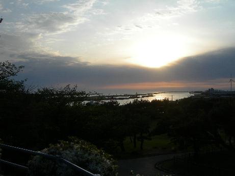 酒田港の夕日