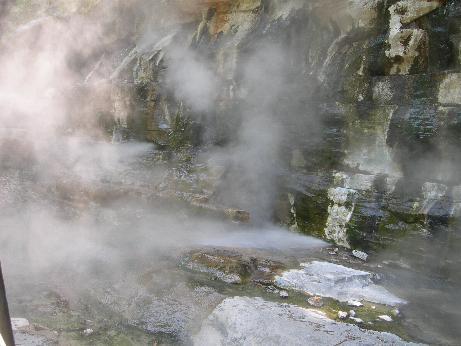 大噴湯のアップ