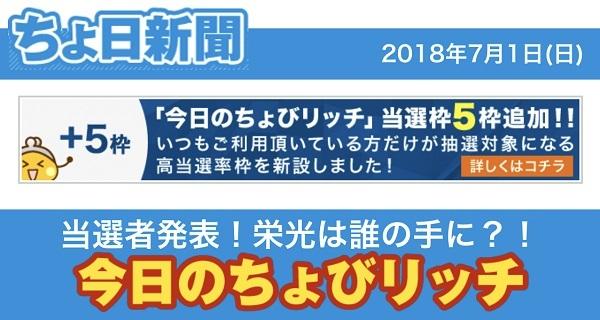 ちょ日新聞「今日のちょびリッチ」毎日チェックしよう!!【ちょび ...