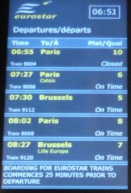 ブリュッセル行き