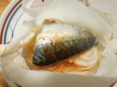 マサバの紙包み焼き3