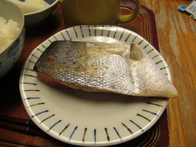 焼き鮭朝食