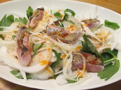 炙りムツと新タマネギのサラダ2