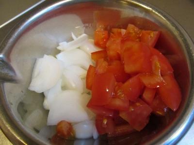 タマネギとトマト1