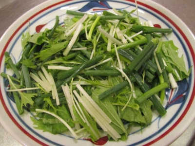 水菜と万能ネギ1
