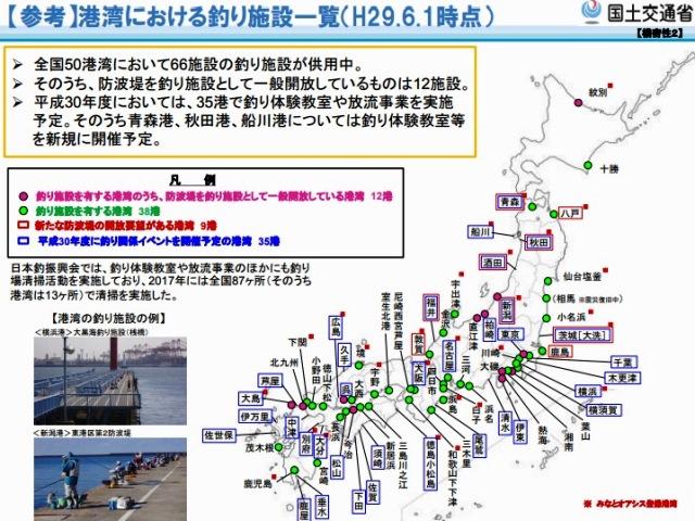 港湾における釣り施設一覧