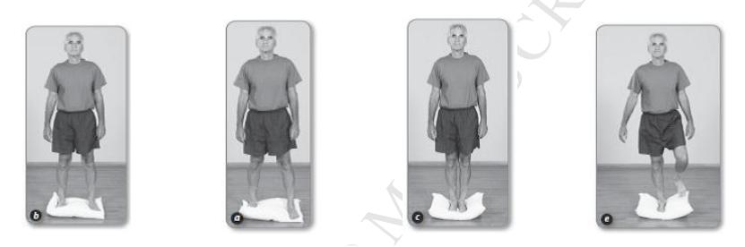 バランス体操の足位置