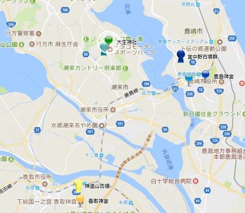 大生神社関連地図