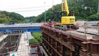 柏井橋の工事現場