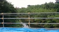 柏井橋から見た下流の谷