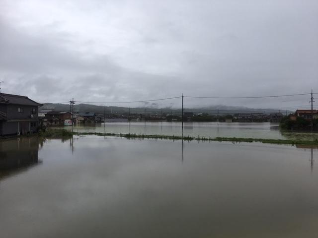 2018年7月7日大雨田んぼ冠水