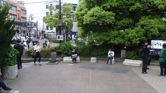 鎌倉駅前の時計台広場 TARI TARI 聖地巡礼