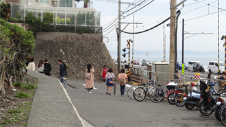 鎌倉高校前踏切 TARI TARI 聖地巡礼