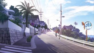 通学路(カーブミラーの場所) TARI TARI 聖地巡礼