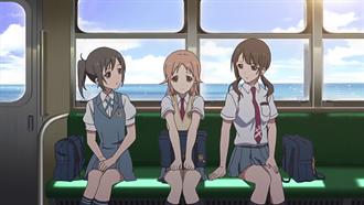 江ノ電車内 TARI TARI 聖地巡礼