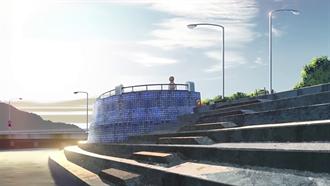 弁天橋道路側海岸(和奏と来夏が話していた場所) TARI TARI 聖地巡礼