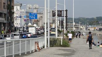 江の島入口交差点付近 TARI TARI 聖地巡礼