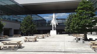 響け!ユーフォニアム 聖地巡礼 名古屋国際会議場(馬の石像周辺)