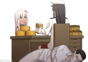 マルハチマルマル、提督。え、朝食足りなかったって?