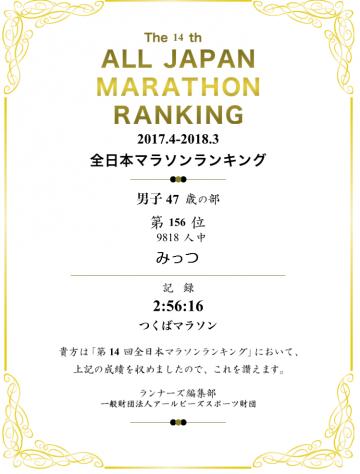 180522全日本マラソンランキング