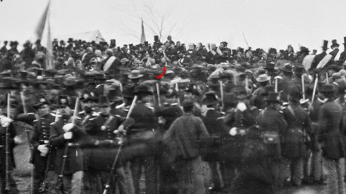 1c 500 Lincoln at Gettysburg