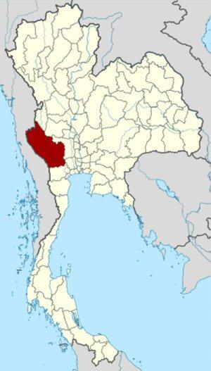 4e 300 map of Thai カンチャナブリ県