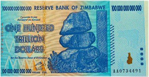 01b 500 百兆ドル Zimbabwe
