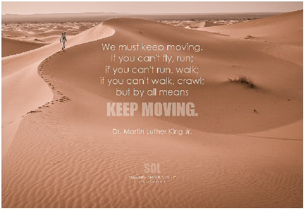 09a 600 We must keep moving