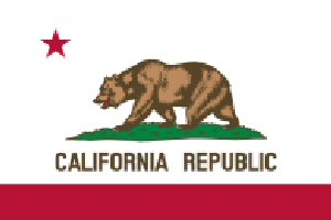 09b 300 California State flag