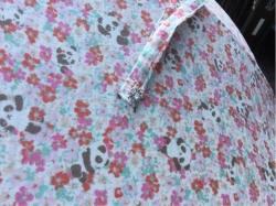 日傘 手作り 隠れパンダ ボタンは100円ショップ