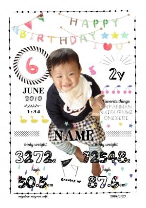 happy birthday①sample