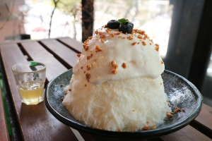 クリームチーズケーキかき氷