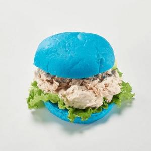 青の花茶ヘルシーツナバーガー