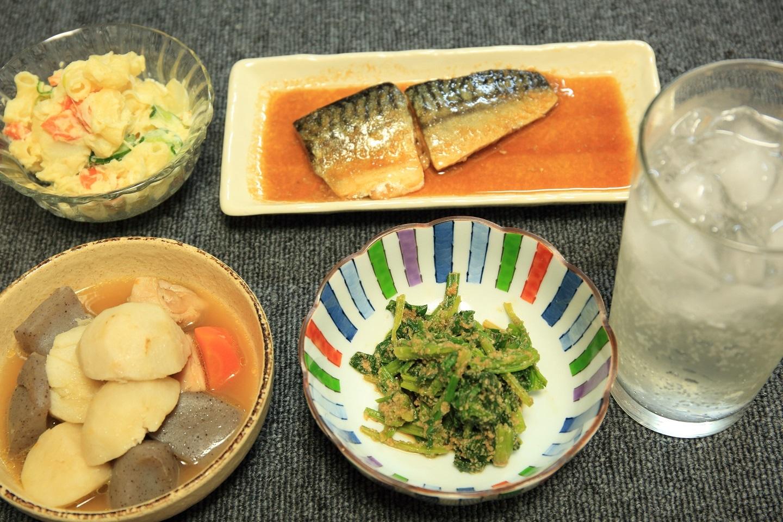 ブログ作り置きできるおかずの夕食.jpg