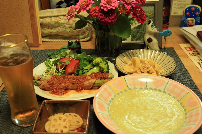 ブログ ちょっと力を込めた夕食.jpg