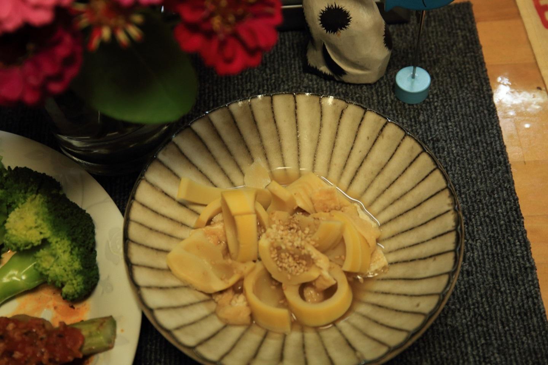 ブログ タケノコと油揚げの煮もの.jpg