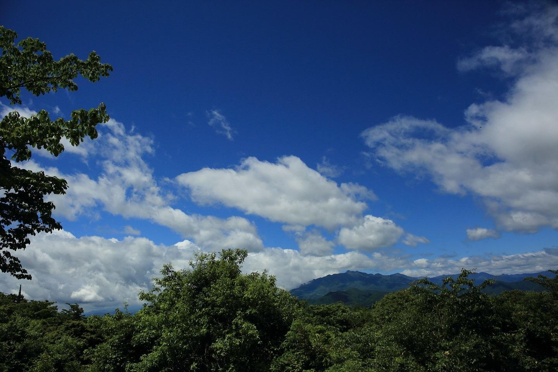 ブログ だってそうだろう 青い空、白い雲、初夏の光、緑の木々 これだけあってあとは何が必要?.jpg