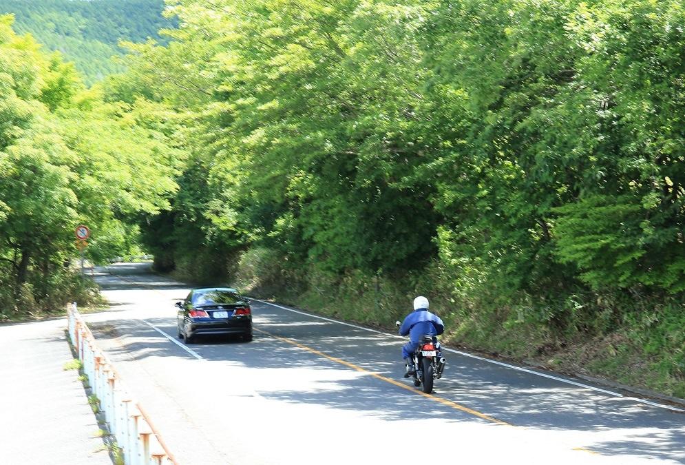 ブログ 気持ちよさそうに車を追い抜くバイク.jpg