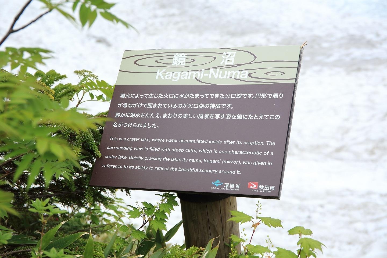 ブログ 八幡平の鏡沼の説明板.jpg