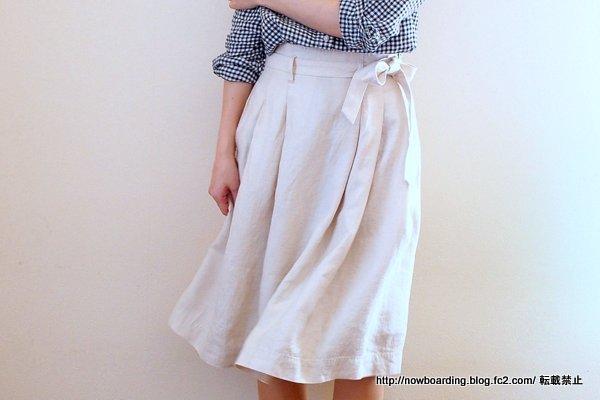 コントワーデコトニエ ブログ リネンドレープリボンミドルスカート
