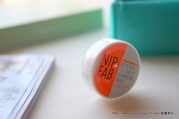 4月のルックファンタスティックビューティボックス 感想ブログ lookfantastic beauty box NIP + FAB GLYCOLIC FIX DAILY CLEANSING PADS