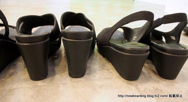 クロックス ヒールのある社内履きのおすすめレイシリーズ比較