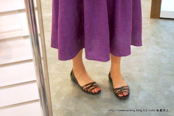 イザベラ ワラチェ 2.0 フラット 社内履き着用画像