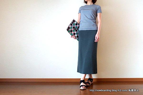 sesto30代大人カジュアルファッション用サンダル 着用画像
