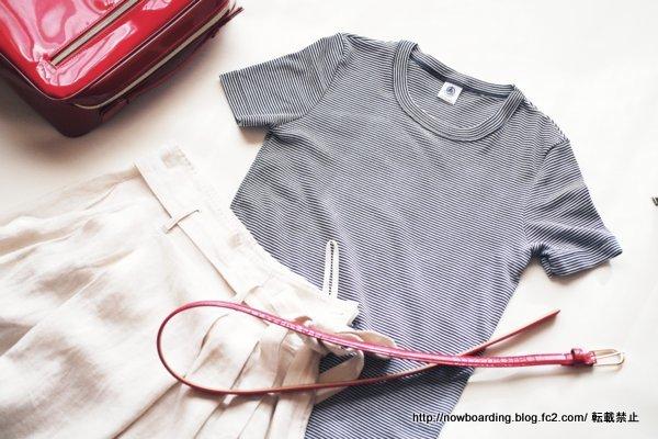 プチバトー(PETIT BATEAU) ミラレクルーネック半袖Tシャツ