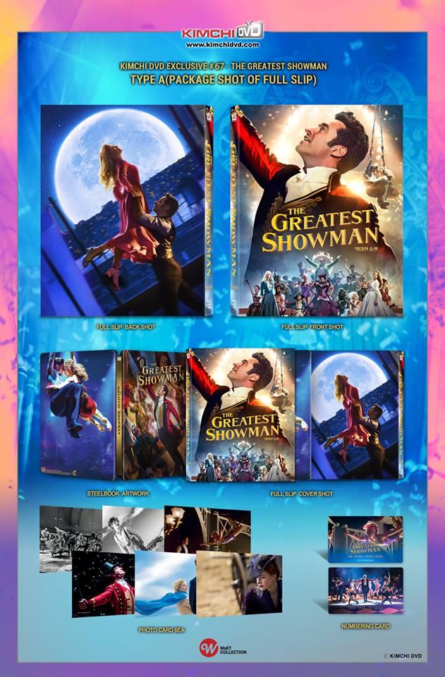 グレイテスト・ショーマン 韓国 スチールブック The Greatest Showman KimchiDVD steelbook